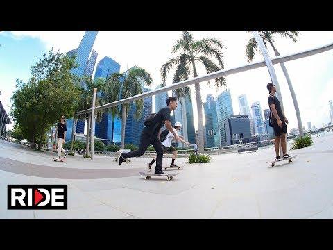 Skating in Singapore with Firdaus Rahman and Alex Soikkeli
