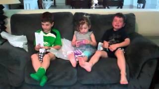 Kids reaction to Surprise Pregnancy Announcement