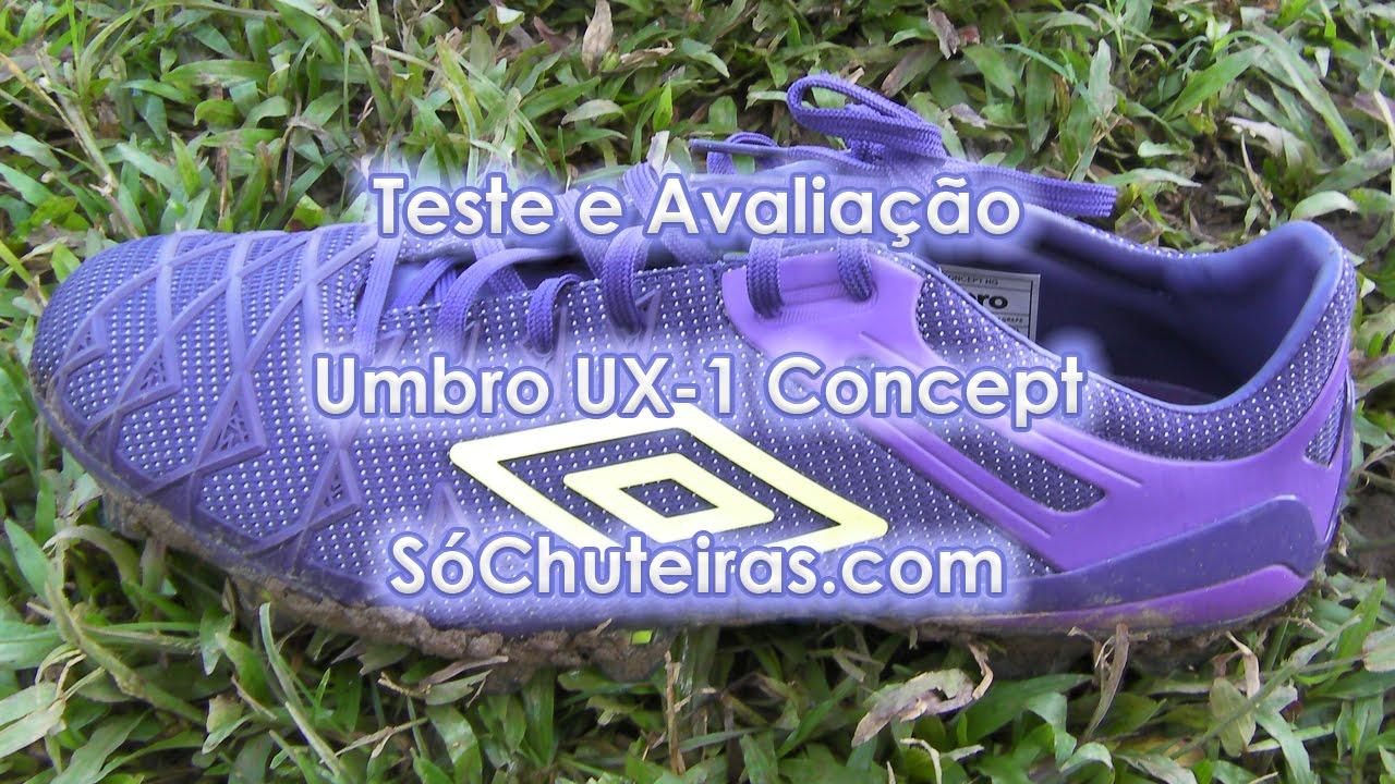 51efcbc5779d9 Teste e avaliação - Chuteira Umbro UX-1 Concept - Blog Só Chuteiras -  YouTube