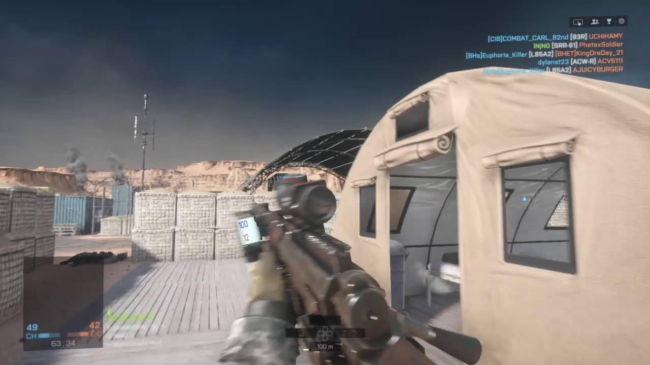 Battlefield 4 - Gameplay Sniper SR-61 Acog HARDCORE