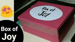 DIY Gift Box of Joy for Best Friend / Boy Friend  
