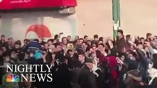 President Donald Trump Tells Iran 'The World Is Watching' As Protests Break Out | NBC Nightly News