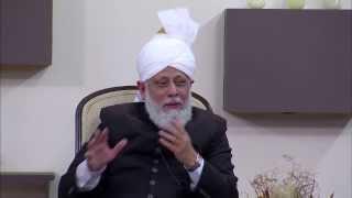 Waqfe Nau UK Khuddam Class with Hazrat Mirza Masroor Ahmad on 1st December 2013