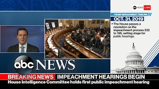 President Trump watching impeachment hearings closely l ABC News