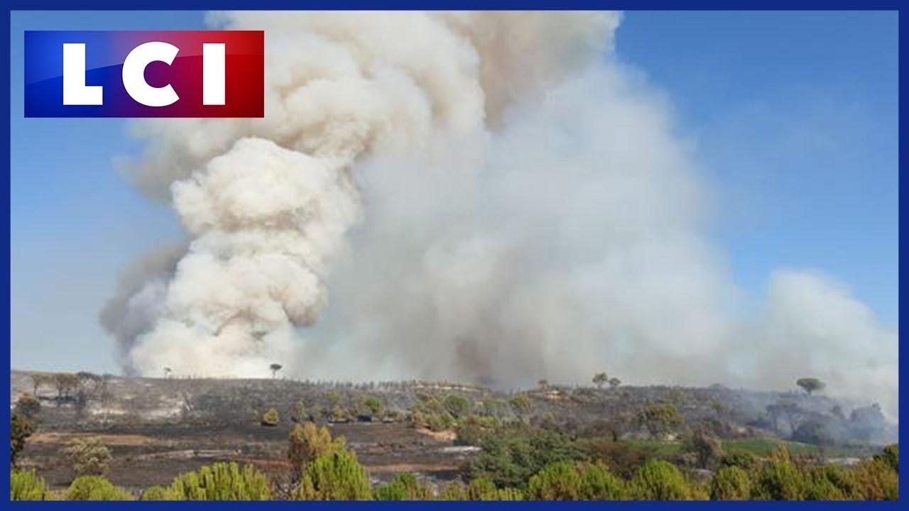 Incendie dans le Gard : plus de 480 hectares parcourus à Générac, 190 personnes évacuées