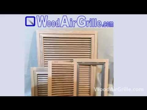 Wood Return Air Vent by WoodAirGrille com