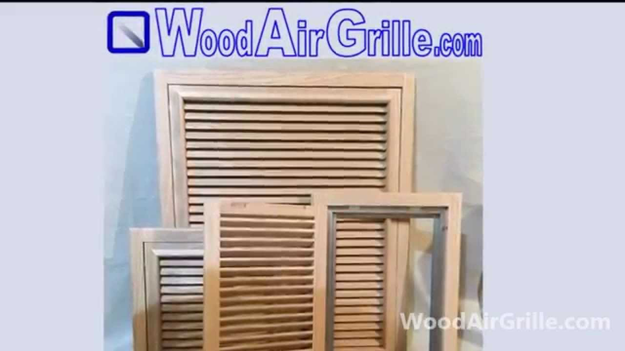 Wood Return Air Vent by WoodAirGrille com - YouTube