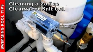 cleaning a zodiac clearwater salt cell