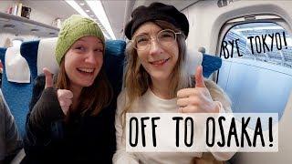 Bye bye Tokyo, Hello Osaka! Vegan Ramen, Airbnb Tour & Bullet Train!