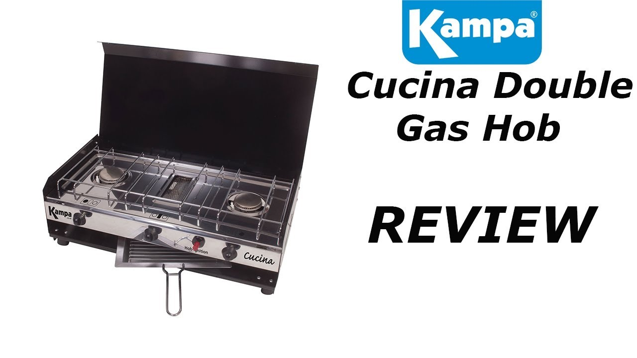 Kampa Cucina Double Burner & Grill - YouTube
