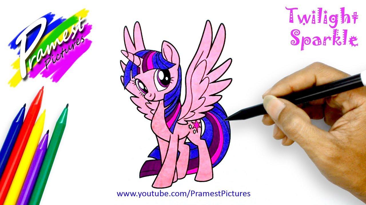 Twilight Sparkle Cara Menggambar Dan Mewarnai Gambar Kuda Poni Untuk Anak Anak Youtube