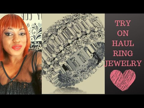 White Sapphire Wedding Bands for Women | Italo Jewelry Ring Review By Obodo Oyinbo TV (Sku: 241296)
