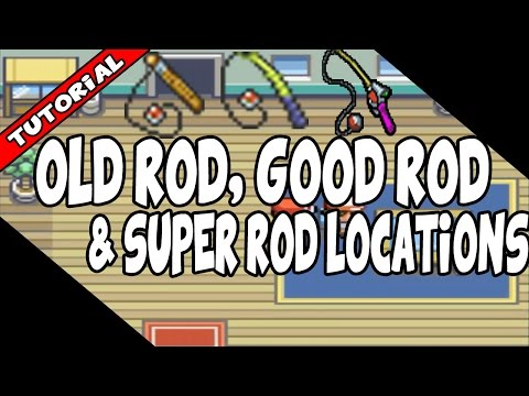 How To Get The Old/Good/Super Rod's On Pokemon Fire Red