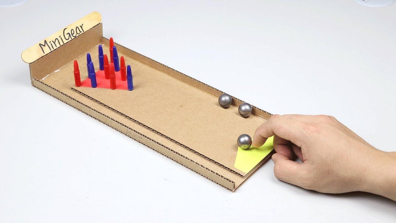 Cara Membuat Game Bola Mini Bowling dari Karton - YouTube