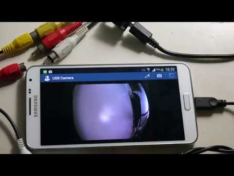 external AV CVBS is dispalyed on Android samsung note3 neo by USB CVBS Grabber card