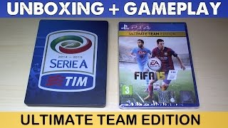 UNBOXING FIFA 15 ULTIMATE TEAM EDITION + Primo Gameplay e Prime Impressioni