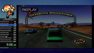 Ridge Racer 64 Final Credits speedrun in 1:24:46 (WR)