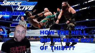WWE SMACKDOWN LIVE 8/21/18 REVIEW RIDICULOUS KICK OUT