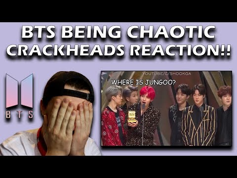 BTS Being Chaotic Crackheads in Award Shows REACTION!
