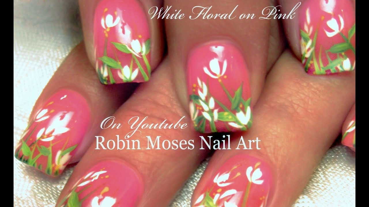 Easy DIY White Spring Flower Nail Art Design Tutorial ...