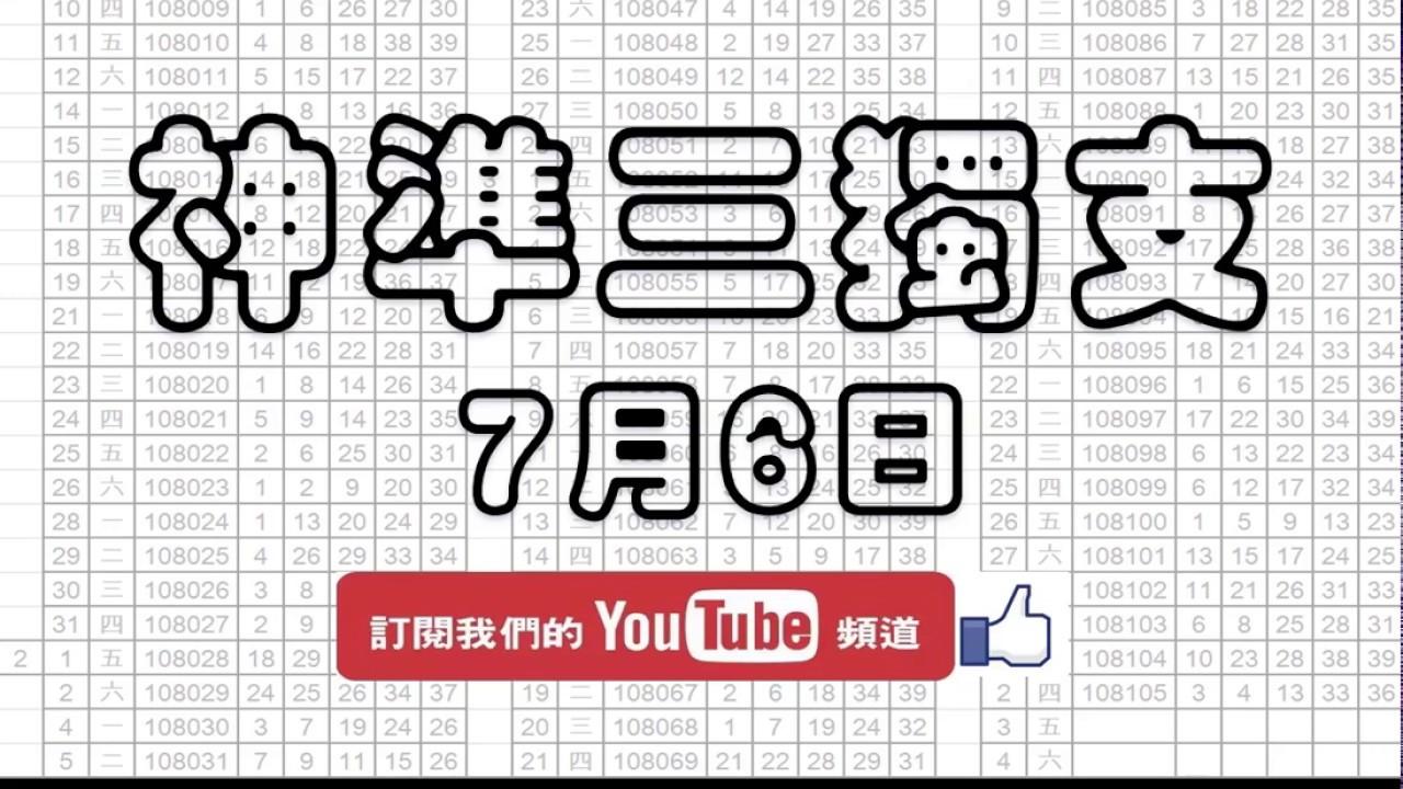 【539財神爺】 今彩539 7月6日 神準三獨支版路 超強版本