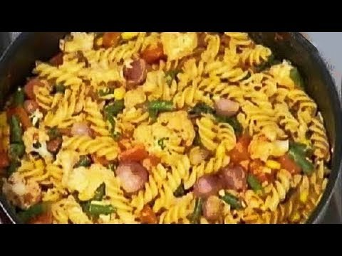 Chunky Vegetable Pasta - Sanjeev Kapoor - Khana Khazana