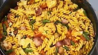 HİNTÇE Sanjeev Kapoor | Kolay Tıknaz Sebze Makarna | Sebzeli Makarna İle sebze Makarna Tarifi