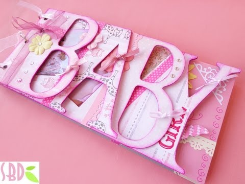 Album Shape Baby Girl - Album Sagoma Bimba Diy