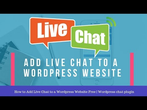 How To Add Live Chat To A Wordpress Website Free | Wordpress Chat Plugin