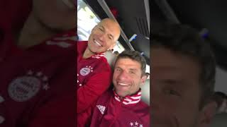 Thomas Müller with Arjen Robben about #EURO2024 in Germany
