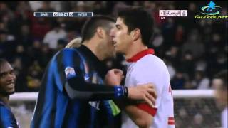 Cristian Chivu punches Marco Rossi in the face [HD]