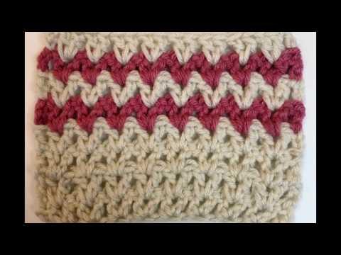 Left Hand Crochet: How to Crochet the Double Crochet V-Stitch