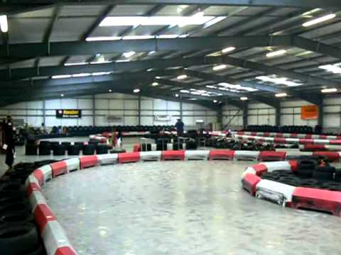 luke hughes at redline indoor karting