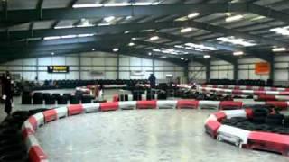 luke hughes at redline indoor karting