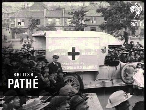 Workpeople Present Ambulance To Red Cross (1914-1918)