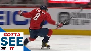 GOTTA SEE IT: Alex Ovechkin Scores Natural Hat Trick In Under Five Minutes To Beat Kings