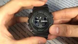 Полная настройка часов GA-100-1A1ER (все функции) - видео от PresidentWatches.Ru