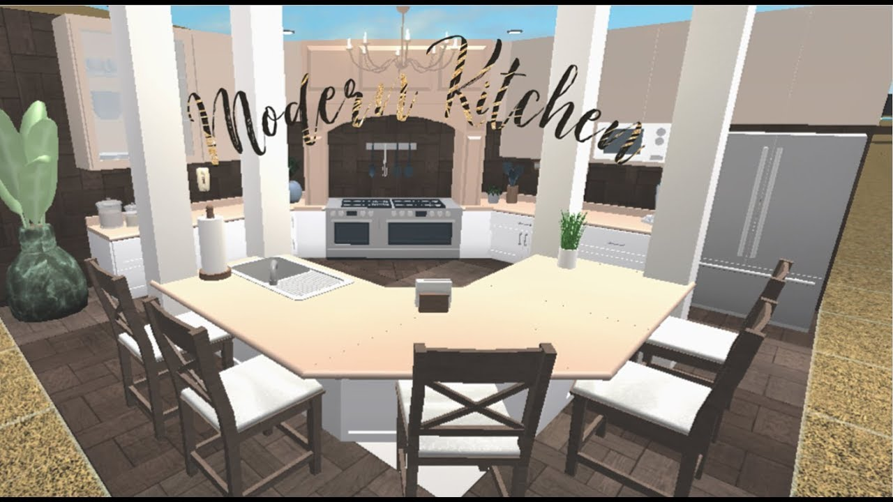 Roblox Bloxburg Modern Kitchen Speed Build