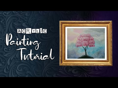 Easy Painting ideas for beginners/ acrylic painting/ step by step/ time lapse