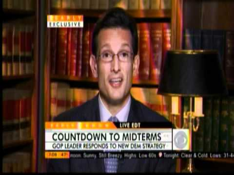 """Republican Whip Eric Cantor Discusses Obama/Pelosi Agenda On """"The Early Show"""""""