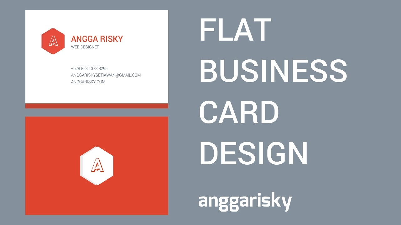 Design Flat Business Card in Sketch Tutorial - YouTube