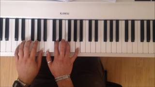 block chords for piano easy