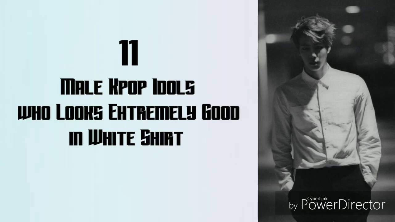 Male Kpop Idol Who Looks Extremely Good In White Shirt Youtube
