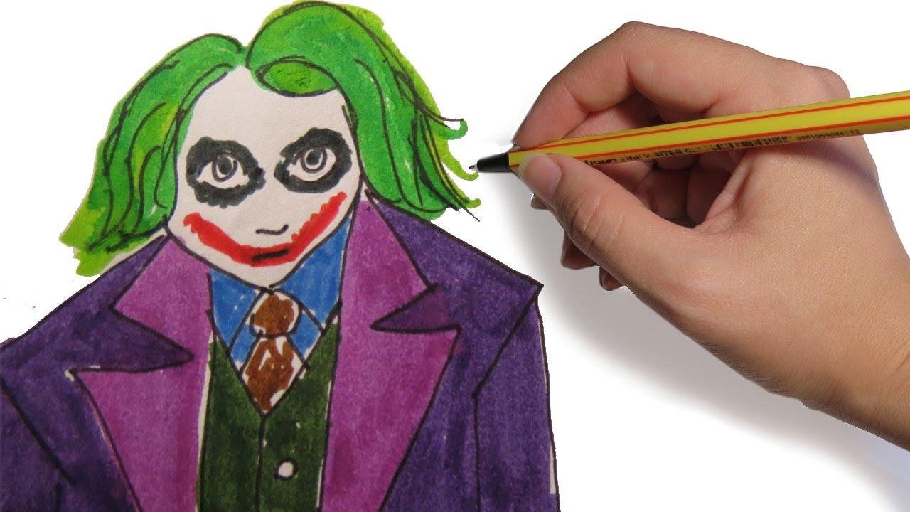 Como Dibujar Al Joker Batman El Caballero De La Nocheel Caballero Oscuro Paso A Paso