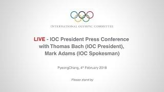 IOC President Press Conference, with Thomas Bach (IOC President), Mark Adams (IOC Spokesman)