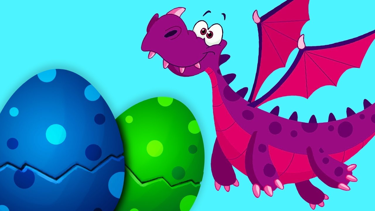Surprise Eggs & Baby Dragons | Learn Color Names for Kids | Learn ...