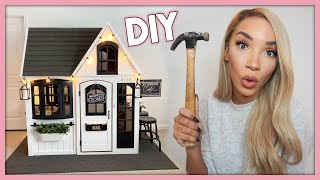 DIY Playhouse Makeover! (Ziya's Dream Home!)