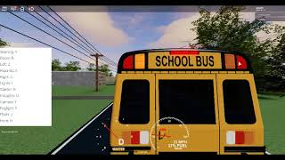 My cousin playing school bus simulator on roblox!!! Part1