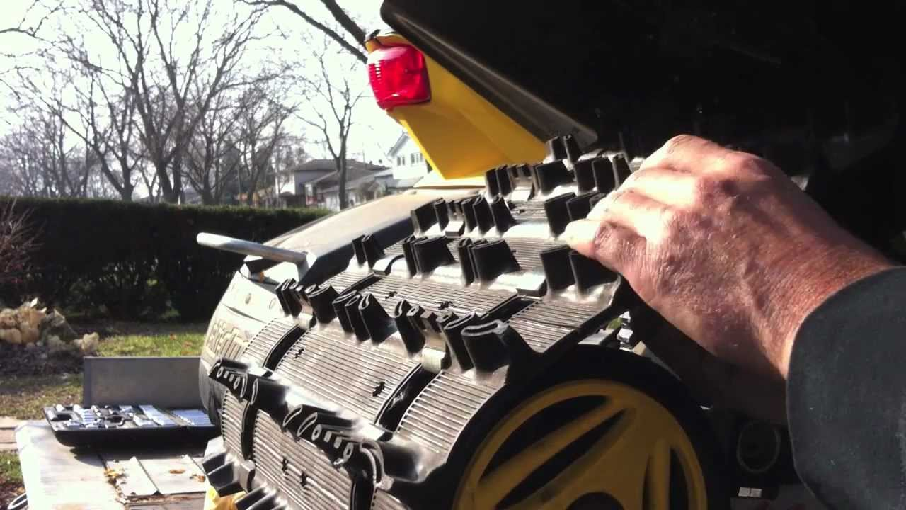 How To Stud Your Track Step By Step Diy Guide Skidoo