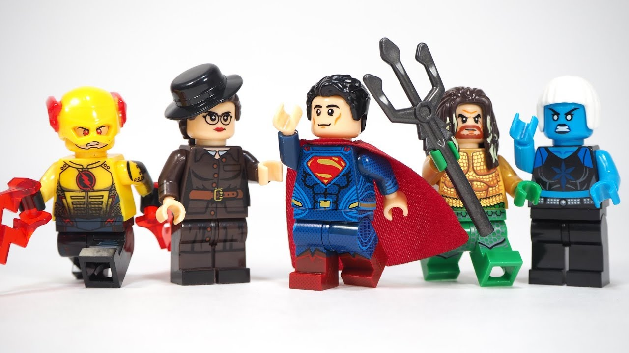 Aquaman Minifigures Mera Wonder Woman Reverse Flash Luthor Superman Figure